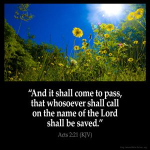 And it shall come to pass that whosoever shall call on the name of the Lord shall be saved