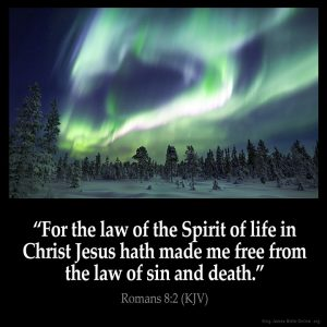 For the law of the Spirit of life in Christ Jesus hath made me free