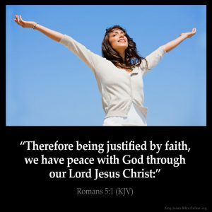 Therefore being justified by faith